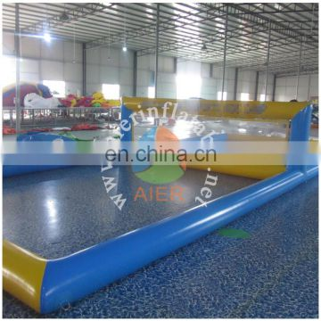 2015 Guangzhou inflatable water volleyball court for family fun