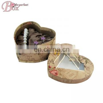 Thanksgiving Pretty Flower Heart Shaped Craft Paper Cardboard Gift Box