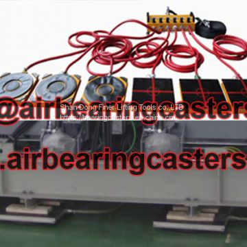 Modular air casters applied for moving massive loads from assembly to shipping