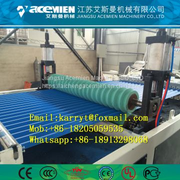 Plastic composite trapezoidal roof tile making machine/ PVC