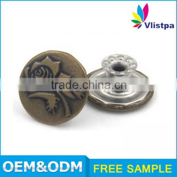 Wholesale high-quality brass 16mm snap button type