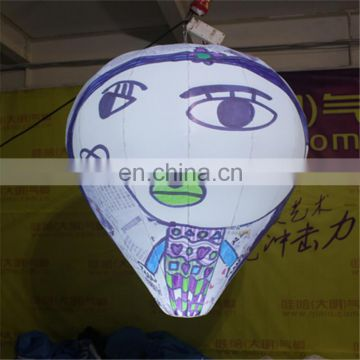 customized out of shape scrawl hanging LED light balloon for advertising