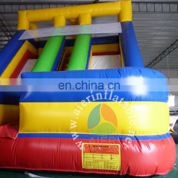 best selling inflatable slide/double lanes dry slide Guangzhou