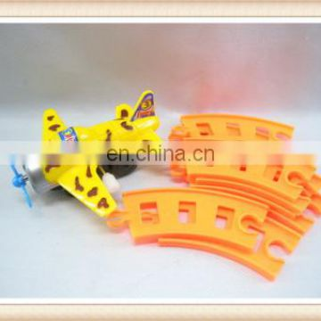 kids assemble Funny wind up plane toys with road sign Wind up toys railway toys