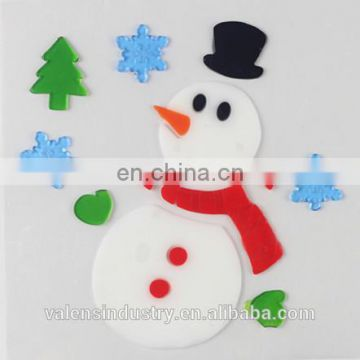 snowman design cute removable easily peel off jelly gel gem glass fridge walmart supply santa claus