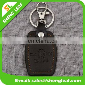 Wholesale cheap price leather keychain with custom logo