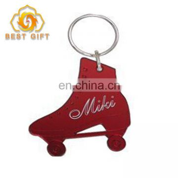 Custom Metal Roller Skates Shoes Shaped Theme Keychain For Gifts