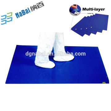 USA Canada supplier of 24*36inch quality entrance blue sticky mat
