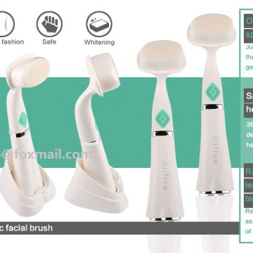 2018 Professional Face Cleanser Ultrasonic Vibrating Waterproof Silicone Facial Brush For Skin Care cleansing brush