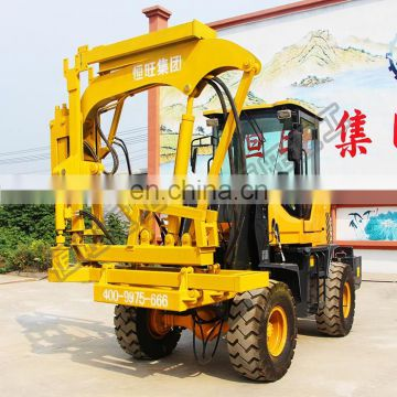 highway road guardrail beam post hydraulic press sheet pile driver