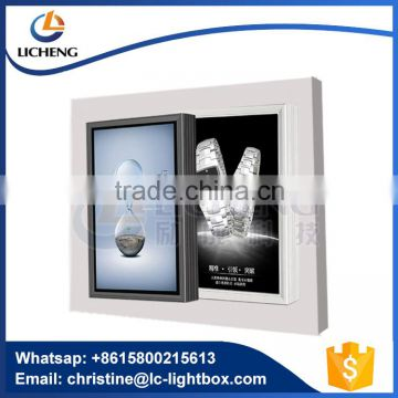 Wall hanging outdoor display advertising LED light box display with high quality aluminum profile T6063
