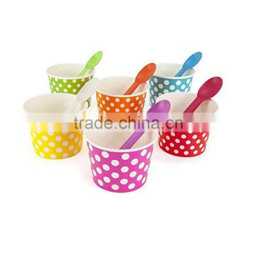6.5oz high quality custom printed paper soup cup ice cream cup