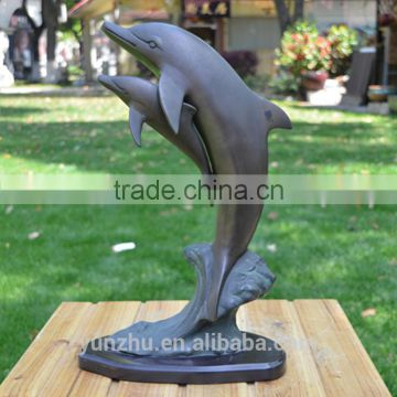 brass/bronze large animal dolphine statue for sale