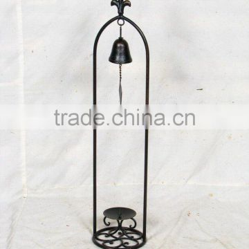 table stand candle holder with bell