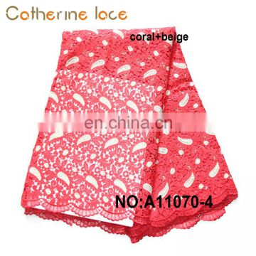 Catherine High Quality Guipure Lace Fabric Embroidery Dress For Wedding