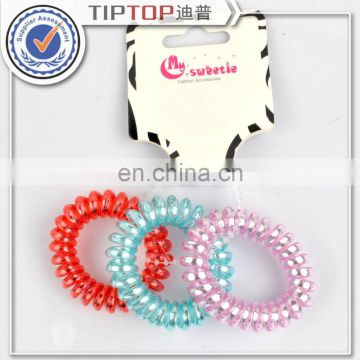 Telephone Wire Line Hair Accessories Ring Gum black / Colored Elastic Hair Bands Girl Scrunchy Rubber Hair Band