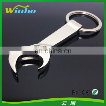 Metal Wrench Bottle Opener Keychain
