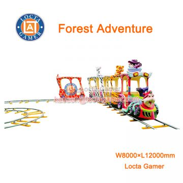 Zhongshan electric train Rail train 14 Seat Forest Adventure outdoor and indoor amusement park equipment electric ride