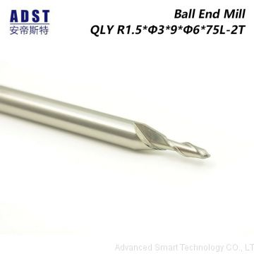 2 Flute Ball End Mill Cutting Tool HSS Milling Cutter