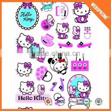 Modern cartoon puffy sticker key chain kids puffy 3d stickers