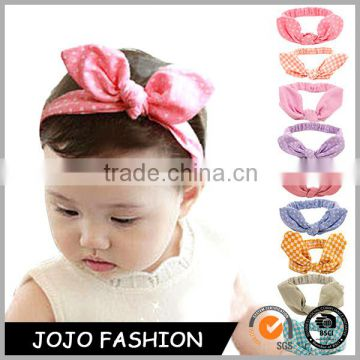 Children hair accessories baby girls top knotted headband kids child rabbit ear head wrap hair band