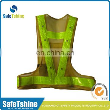 Cheap high visibility reflective safety belt motorcycle with led
