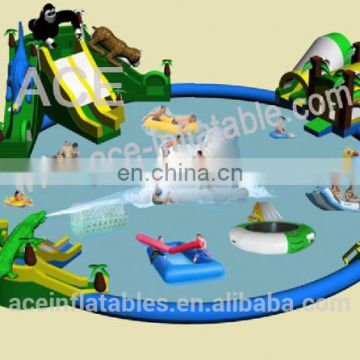 commercial cheap giant aquapark inflatable floating water park