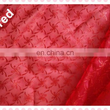 Different Pattern Red Christmas Deco Organza