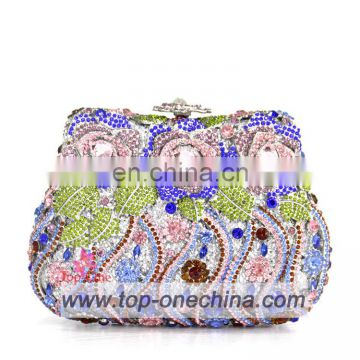 2016 fashion women designer evening crystal bag for wedding party