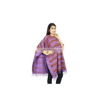 Indian Long Ponchos Poncho Plus Size Clothing Boho Gypsy One Size With Hood Women Ponchos Long Top Wool Blend Winter Sweater