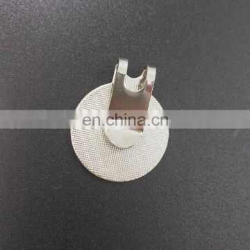laser engrave antique finished metal cap clip