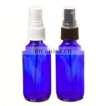 2OZ 4OZ 8OZ Cobalt Blue Boston Round GLASS Spray Bottles w/ Fine Mist Spray