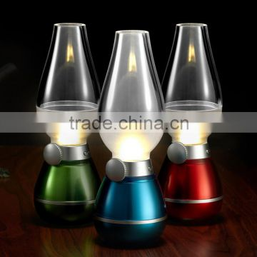 Novelty and Retro Blow Control LED sense Candle Kerosene Lamp USB Rechargeable LED Kerosene lamp Led Home and Outdoor Use