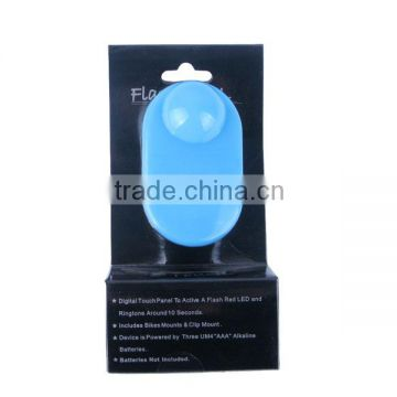 New Product P;astic Bicycle Touch Bell with Led Light Blue Color