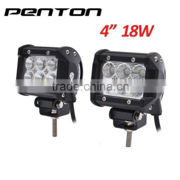 Penton Auto Spare Parts Waterproof IP 67 Flood Beam 18W LED Light Bar Fit for Offroad SUV ATV 4WD Heavy Duty Truck