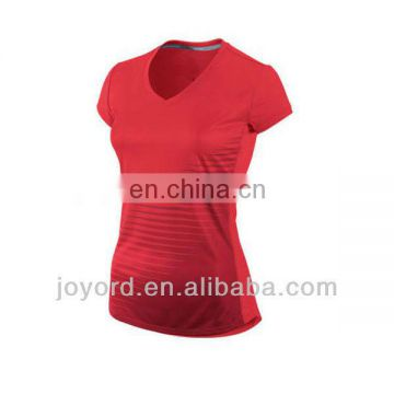 Customized coolmax fashion women running shirt