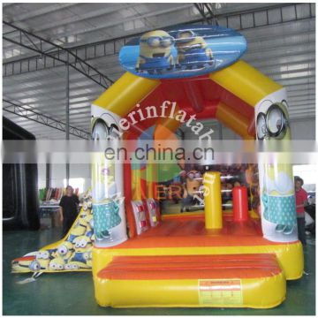 high quality outdoor inflatable castle house / children's toys jumping bed inflatable with slide