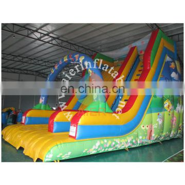 2017 Aier promotional inflatable slide combo playground/new design inflatable playground for amusement park