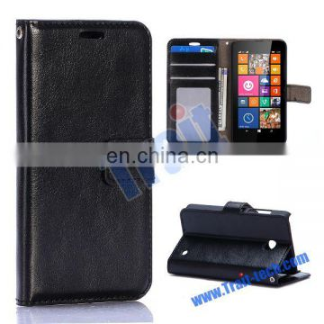 Wallet style phone case/ Magnetic flip stand phone case for Nokia Lumia 630/ Leather phone case supplier & exporter