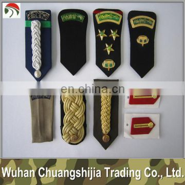 embroidery military epaulette shoulder patchs