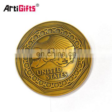 Custom made novelty employee recognition gift gold silver pure copper coins