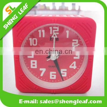Small alarm clock silicone alarm clock snooze mute electronic clock