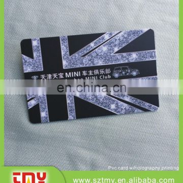 Holography plastic club card with fashion design