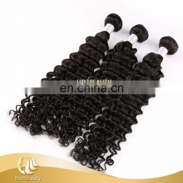 Soft Touch Peruvian Unprocessed Human Hair Deep Wave Natural Black
