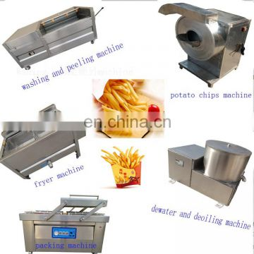 Semi- automatic Fried Potato Chips Production Line French Fries Making Machine  Frozen Fries Processing LIne