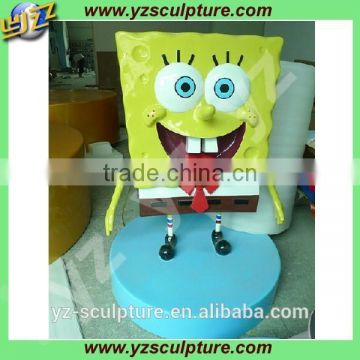 life size fiberglass Spongebob squarepants statue for sale