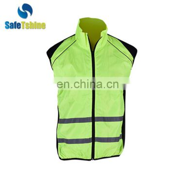 Good fabric reflective safety vest running clothing with high reflective tpe