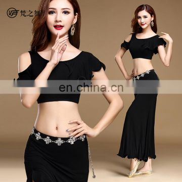 T-5125 Newest style indian modal sexy belly dance costumes with diamond belt chain