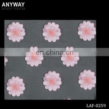 LAF-0259 Newest Arrival Pink Flower Pattern Cotton Lace Fabric