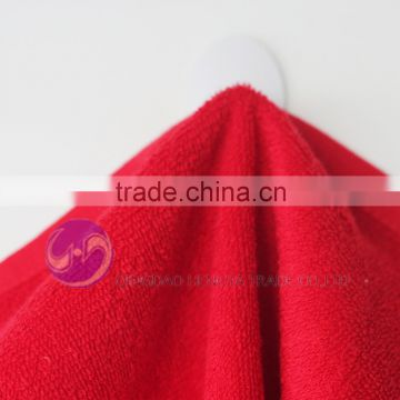 2015 china wholesale red plain dyed cotton terry cloth small second hand towels
